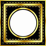 Gold pattern frame with waves and stars_16(167).jpg
