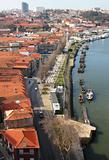 Portugal. Porto. Gaya. View of Douro river embankment