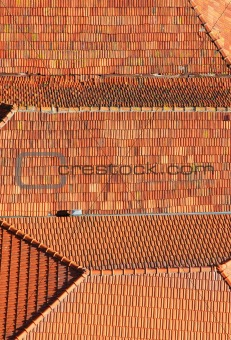 Portugal. Porto city. Old historical part of Porto. Roofs