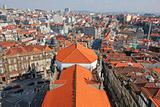 Portugal. Porto. Aerial view over the city Portugal. Porto. Aerial view over the city