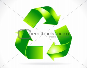 abstract 3d recycle icon