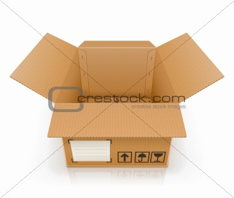 open empty cardboard box