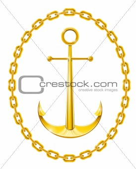 anchor with chain as frame
