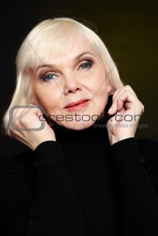 Blonde on black