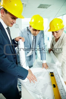 Architects working