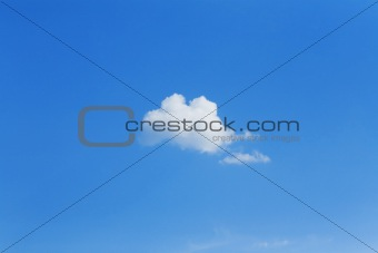 Lonely cumulus cloud
