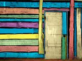 colorful vintage wooden door