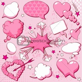 Love speech bubbles