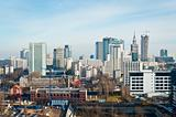 Panorama of Warsaw city