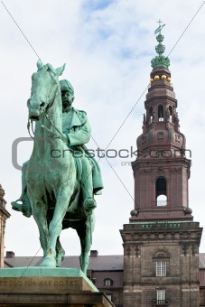 King Christian IX Monument in Christiansborg Palace in Copenhagen
