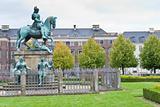 Christian V statue in Kongens Nytorv in Copenhagen