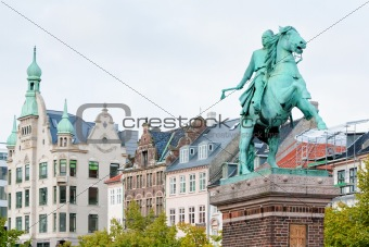 Statue of Absalon in Copenhagen, Denmark