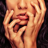 closeup detail girl face