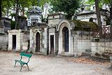 Tombs at  Pere Lachaise cemetery