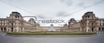 Louvre Museum - frontal view