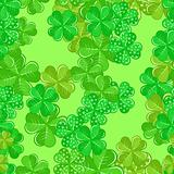 Seamless Patrick's Pattern With Shamrocks