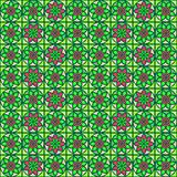 geometric seamless pattern with flower