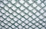 Lattice fence with ice