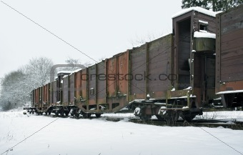 old railcars in Germany