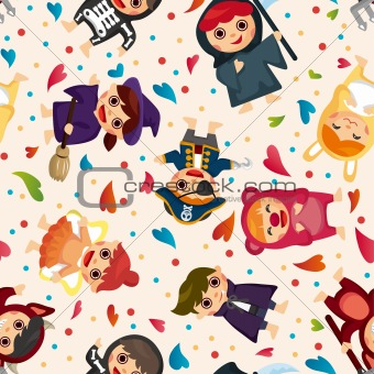 costume party seamless pattern