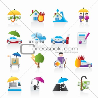 Disaster and risk icons
