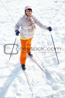 Skiing female