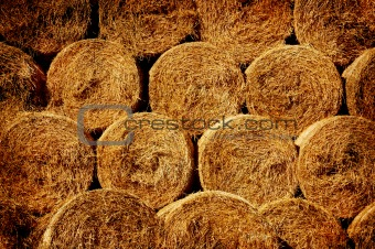Background bales of hay