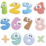 Jolly Cartoon Numbers