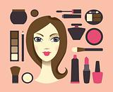 Woman and cosmetics