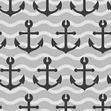 seamless wallpaper with sea anchors