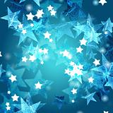 blue azure and white stars