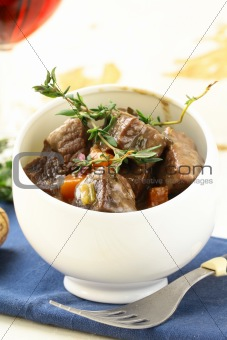 Boeuf bourguignon  - Traditional french beef goulash