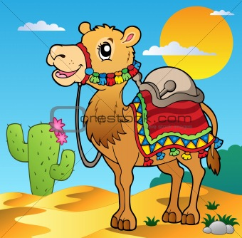 Desert scene with camel