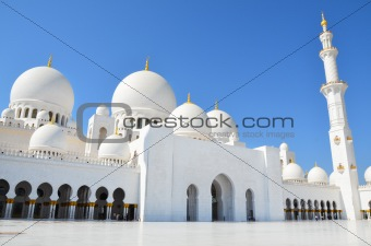 Sheikh Zayed Mosque in Abu Dhabi, United Arab Emirates i, UAE