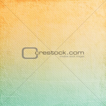 A paper background with orange and blue