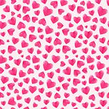Seamless pattern with shiny hearts