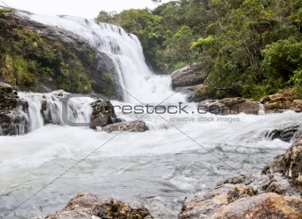 A waterfall, Horton Plains, Sri Lanka