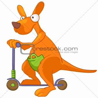 Cartoon Character Kangaroo