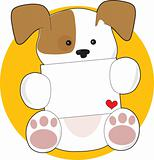 Cute Puppy Letter