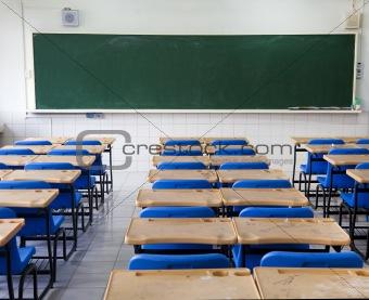 classroom and chalkboard