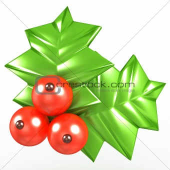 3d Holly berries