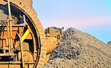 bucket wheel excavator for digging the brown coal
