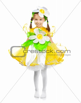 Little girl in costume