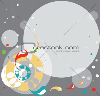 Abstract background circles grey blubs