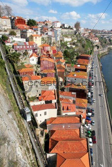 Portugal. Porto city. Old historical part of Porto