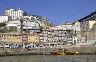 Portugal. Porto city. Old historical part of Porto. Ribeira