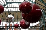 Huge red glass balls