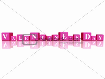 valentines day in 3d cubes