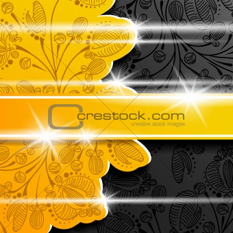floral background abstract flower layer shadow shine frame