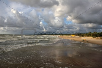 Baltic beach in Palanga, Lithuania.